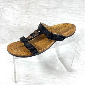Vionic Viviana Sandals Slides Black Size 8.5